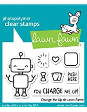 """Lawn Fawn Charge Me Up 2""""x3"""" Clear Stamp Set (LF1774)"""