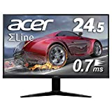 Acer ゲーミングモニター SigmaLine 24.5インチ KG251QGbmiix 0.7ms(GTG) 75Hz TN FPS向き フルHD FreeSync フレームレス HDMIx2 スピーカー内蔵 ブルーライト軽減