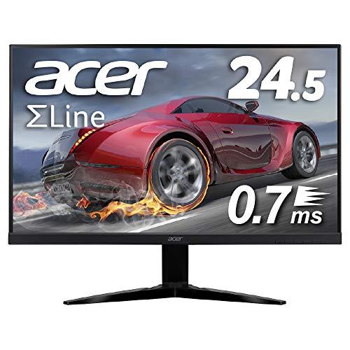 Acer ゲーミングモニター SigmaLine 24.5インチ KG251QGbmiix 0.7ms 75Hz TN FPS向き フルHD FreeSync フレームレス HDMIx2 スピーカー内蔵 ブルーライト軽減