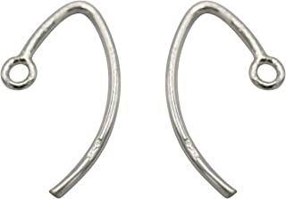 Silver Ear Wires for Jewelry Making, 925 Sterling Silver V Wire Shaped Earring Hooks 10 Qty(5 Pairs),Closed Ring, Size Approx 14x9 MM