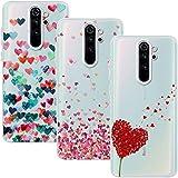 Young & Ming Funda para Xiaomi Redmi Note 8 Pro, (3 Pack) Transparente TPU Silicona Carcasa Delgado Antigolpes Resistente, Amor