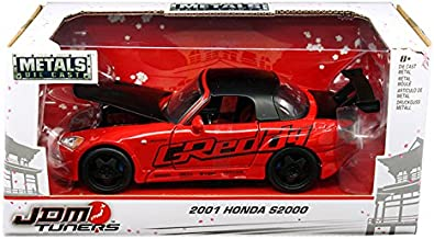 Jada 98686 2001 Honda S2000 Red JDM Tuners 1/24 Diecast Model Car