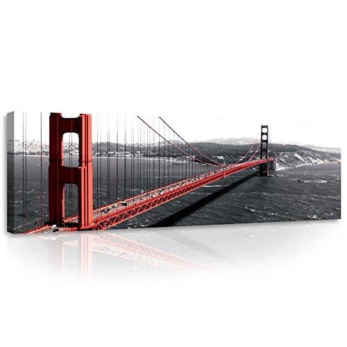 FORWALL Bilder Canvas Golden Gate O3 (45cm. x 145cm.) Leinwandbilder Wandbild AMFPP10085O3