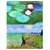 Claude Monets Bridge Over a Pond of Water Lily Irises Backpack and Pencil Case Set