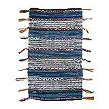 Home Gadgets Alfombra Algodon Rectangular Azul 120x70 cm