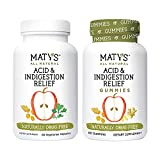 Maty's All Natural Acid and Indigestion Relief Bundle – Safe & Effective Heartburn Relief Made with Ginger, Turmeric & More – Gummies, 60 Count, and Capsules, 60 Count