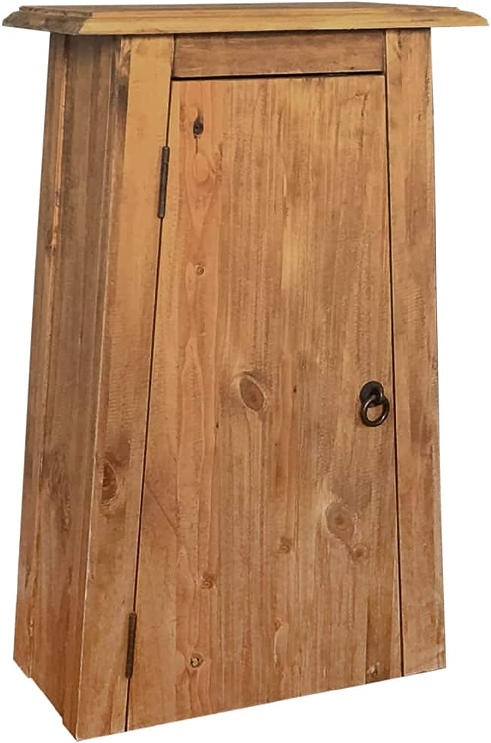 Festnight Bathroom Wall Cabinet Solid Recycled Pinewood 42x23x70 cm