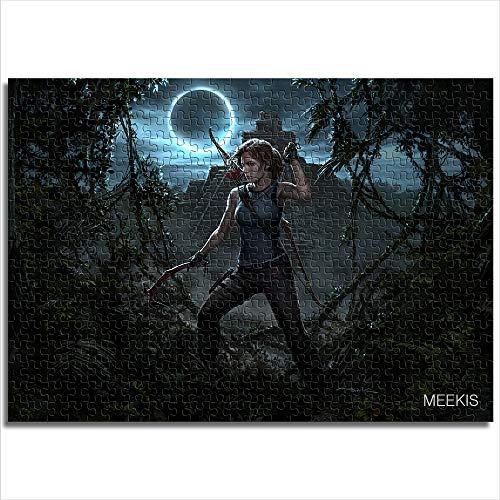 1000 piezas Shadow of the Tomb Raider heroine rompecabezas juguetes para adultos y niños rompecabezas de madera