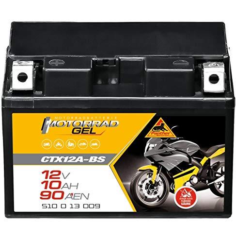 Panther Motorradbatterie GEL 12V 10Ah YTX12A-BS Batterie 51013 Quad CTX12A-BS