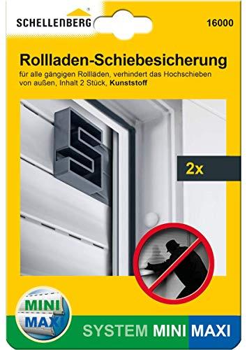 Schellenberg 16000 Rolladen-Schiebesicherung Rolladensicherung gegen Hochschieben 2 Stück (1 Paar)