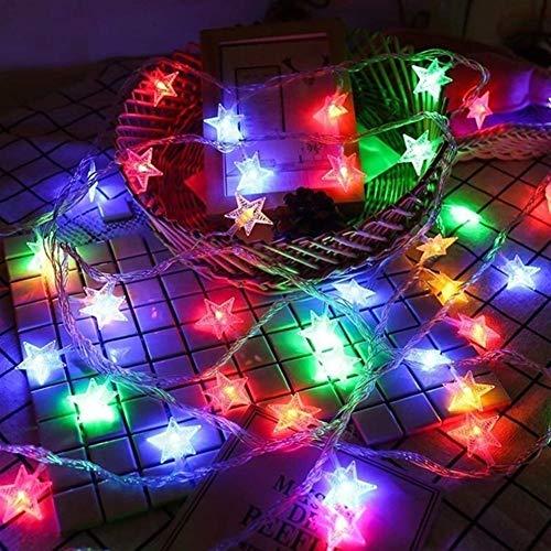 Cadena de seguridad a prueba de agua LED luz de las estrellas cómodo y duradero adecuado for múltiples escenarios liderada por el Partido de la boda luces de la decoración de vacaciones Hada Garland l