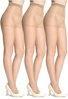 Sheer Pantyhose for Women 3 Pairs Durable and Comfortable Stockings No Run Pantyhose Socks Diy Dutting Tights with 15D