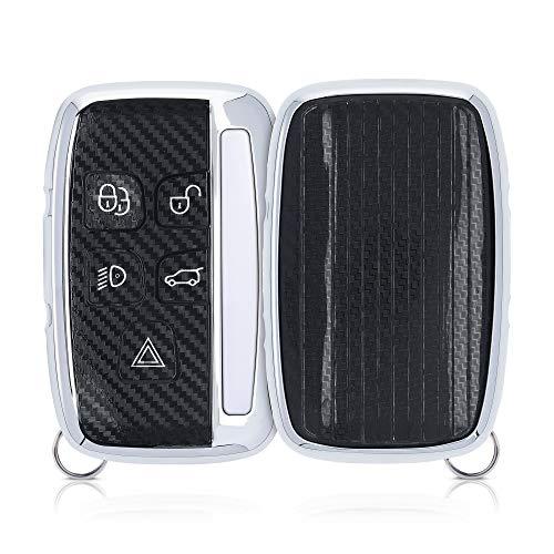 kwmobile Funda Compatible con Land Rover - Carcasa Suave de Silicona para Llave de Coche - Protección para Mando de Land Rover Llave de Coche de 5 Botones