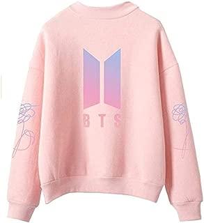 Unisex Kpop BTS Sweatshirt High Neck Sweater Pullover Hoodie Suga Jimin Jin Jung Jook J-Hope Rap Monster V