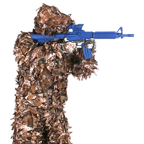Arcturus 3D Ghillie Leaf Suit: Lightweight, Breathable Leafy Camo Suit for Hunting, Paintball, and Airsoft with Over 1,000 Laser-Cut Leaves (Fall Forest, ML)