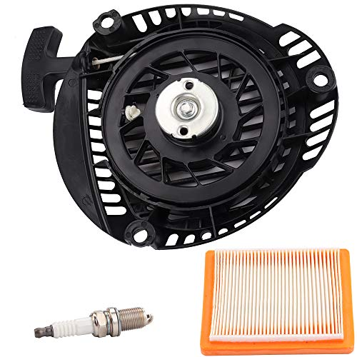 Dalom 14 165 20-S Recoil Pull Start Assembly w 14 083 15-S Air Filter Spark Plug Replacement for Kohler 14 165 20 XT650 XT675 XT775 XT800 Lawn Mower Parts
