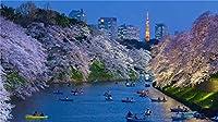 タングラム500ピースブレインチャレンジDiyギフト楽しいゲーム家の装飾リラクゼーションとエンターテインメントに最適 川の観光船