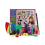 Sipobuy Kit Magique pour Enfants Incroyables avec 18 Accessoires, Plus de 54 astuces de Performance, Magie Facile à Jouer, Cadeau pour garçons débutants Filles et Adultes, 6 Ans et Plus