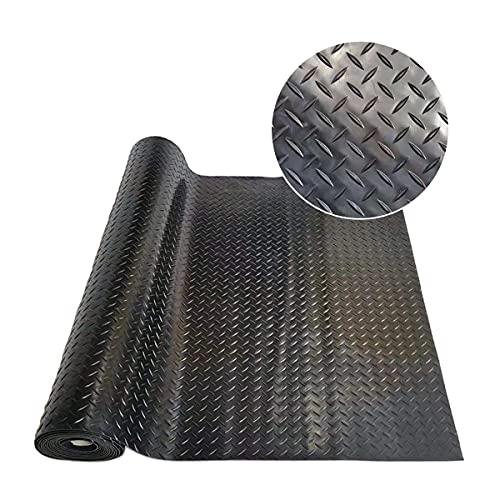ITINA Garage Floor Mat 3mm Thickness Floor Protecting Parking Mats for Under Car Garage Industry Gym(16.5 Ft x3.3 Ft x 3mm, Diamond Midnight Black)