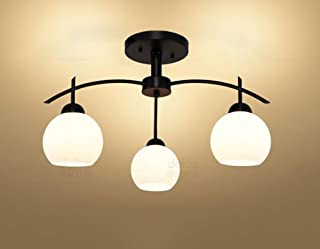 Iron LED Ceiling Living Room Bedroom Dining Room Lamps Book (Design : 3P)