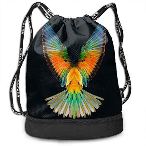 XLFD Gym bags, Rucksacks, Fashion Outdoor Shopping Satchel Rucksack Backpack Bundle Pocket Drawstring Bag Daypack, Logan Paul Logang Logo