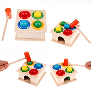 Anniston Kids Toys, Hammering Educational Toy Children Kids Wooden Hammer Balls Early Learning Game Puzzles & Magic Cubes ...