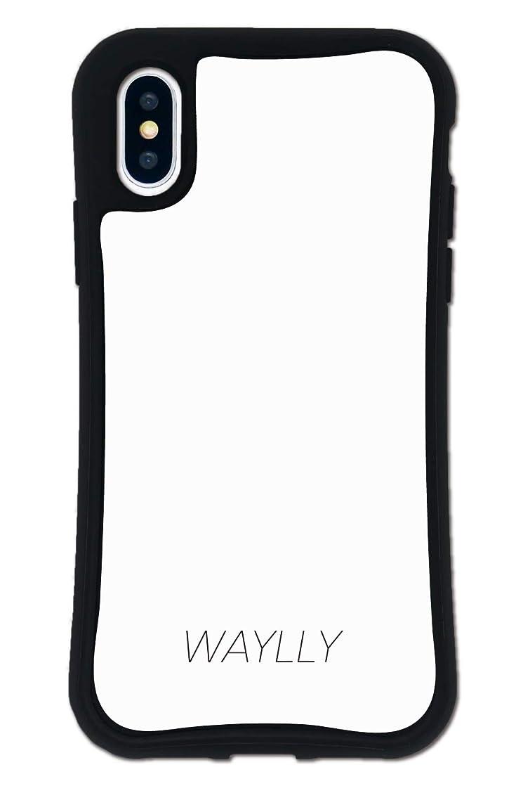 気質確保する忘れられないiPhone X ケース iPhone XS ケース どこでもくっつくケース WAYLLY(ウェイリー) アイフォンXケース アイフォンXSケース 着せ替え 耐衝撃 米軍MIL規格 [スモールロゴ ホワイト] セット MK