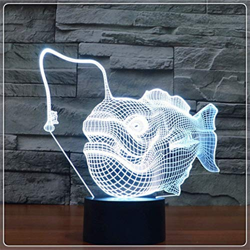 Luz Nocturna noche 3D Lámpara óptico Illusions LED Ilusión 3D Touch