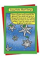 スノーフレークBoot CampクリスマスユーモアGreeting Card 1 Christmas Card & Envelope (SKU:1573)
