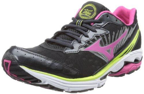 Mizuno Women's Wave Rider 16 Running Shoe,Anthracite/Beetroot,9 B US