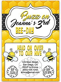Bee There Birthday Party Invitations