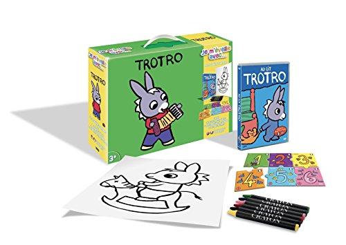 Trotro-Je m'éveille avec. (DVD+Puzzle+6 Crayons Pastels + Poster)