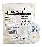 EKG Elektroden mit Nassgel/Liquidgel 48 mm 120 Stück Einmalelektroden Einmal- Klebe- Elektroden Typ: Tiga-Med Profi Qualität!