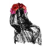 Amosfun Rosenstirnband Blumenkronenschleier-Blumenkopfschmuck für den Tag des Toten...