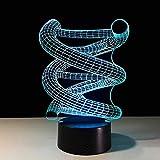 Lámpara de mesa geométrica de acrílico 7 colores Lámpara de escritorio cambiante Lámpara 3D Novedad Luz nocturna led Halcón milenario Luz LED lampara Kid