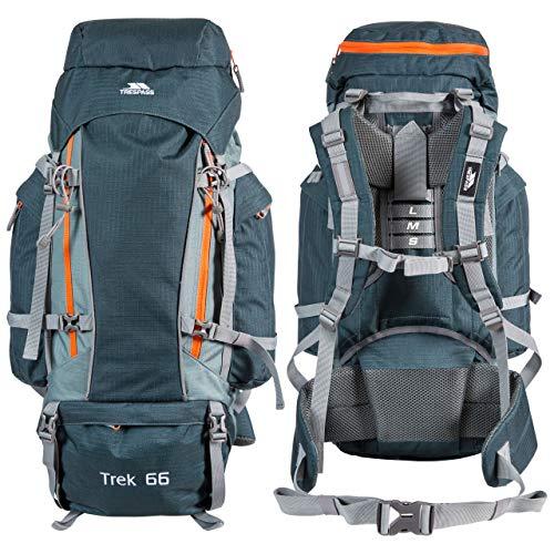 Trespass UTTP362_8, Sac à Dos de Camping, Modèle Trek 66, Olive, Taille Unique Mixte, Oliva, Standard
