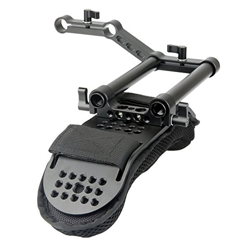 NICEYRIG Shoulder Pad with Rail Raiser /15mm Rods for Shoulder Rig System Video Camera DSLR Camcorders
