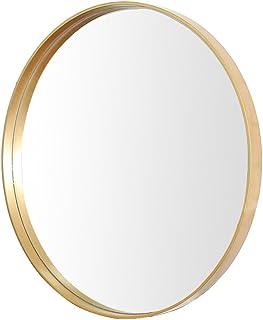 ZYLE Ins جولة ماكياج مرآة الشمال الحمام الزجاج الزجاج مرآة نوم حائط مرآة مرآة (Size : 60cm/23.6inch)