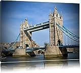 Pixxprint Tower Bridge auf Leinwand, XXL riesige Bilder