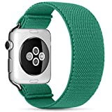 ZALAVER Elastic Band Compatible with Apple Watch 38mm 40mm 42mm 44mm, Fashion Handmade Pattern Stretchy Loop Replacement Wristband for iWatch Series 6/5/4/3/2/1, Women Men Cactus