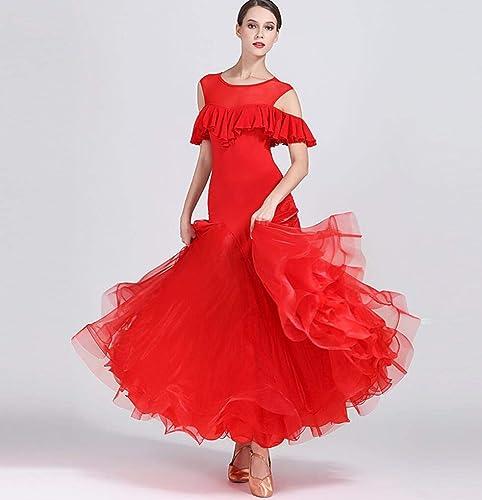 Z&X Robe De Danse Moderne pour Les Femmes Grand Pendule Jupe Salle De Bal Costume Concours De Lait Mousseline De Soie Composite Filé 40D engrener