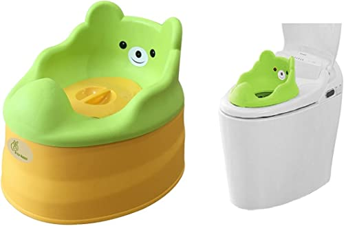 R for Rabbit Tiny Tots – Adaptable Potty Training Seat (Green Yellow) for New Born Baby/Infant/Kids