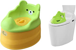 R for Rabbit Tiny Tots – Adaptable Potty Training Seat  Green Yellow  for New Born Baby/Infant/Kids