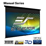 Elite Screens Manual Series, 120-INCH 16:9, Pull Down Manual Projector Screen with AUTO LOCK, Movie Home Theater 8K / 4K Ultra HD 3D Ready, 2-YEAR WARRANTY, M120UWH2