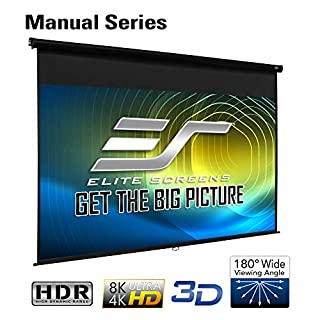 Elite Screens Manual Series, 142-INCH 16:9, Pull Down Manual Projector Screen with AUTO LOCK, Movie Home Theater 8K / 4K Ultra HD 3D Ready, 2-YEAR WARRANTY, M142UWH2, 16:9, Black (B01K0PGUKI) | Amazon price tracker / tracking, Amazon price history charts, Amazon price watches, Amazon price drop alerts