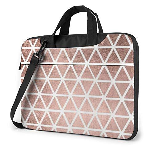 Rose Gold Pattern Backgrounds Laptop Shoulder Bag Messenger Bag Briefcase Handbag Laptop Case Sleeve for 14 Inch