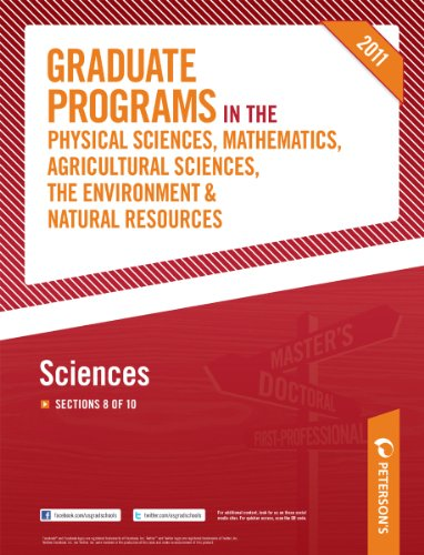 Petersons Graduate Programs In The Sciences 2011 Section 8 Of 10