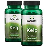 Iodine from Kelp 225 mcg 500 Tablets by Swanson 2 Bottles of 250 Tabs
