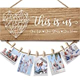Housewarming Gifts New Home Decor Sign, Mothers Day Gifts for Mom from Daughter Son Family Photo...
