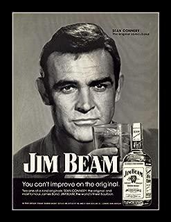 8 x 10 All Wood Framed Photo Jim-Beam-Sean-Connery Says